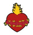catholic sacred heart symbol vector image vector image