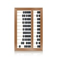 chinese vintage wooden abacus vector image vector image