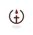church logo a drop blood jesus drips vector image vector image