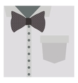 close up formal shirt with bow tie vector image