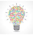Colorful arrow light-bulb vector image vector image