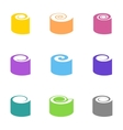 Colorful sushi icons vector image