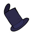 comic cartoon old top hat vector image vector image