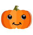 cute pumpkin emoticon vector image