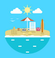 design concept of planning a summer vacation vector image vector image