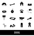dog icons set eps10 vector image vector image