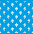 extraterrestrial alien head pattern seamless blue vector image vector image