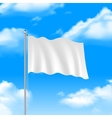 Flag On The Blue Sky vector image vector image