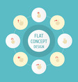 flat icons right two slide and other vector image vector image