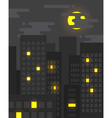 Flat style cityscape at night vector image vector image
