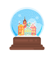 flat style snow globe house vector image vector image