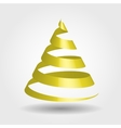 Golden glossy ribbon in a shape of Christmas tree vector image vector image