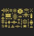 golden like trendy aztec and tribal symbols set vector image vector image
