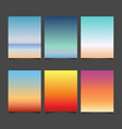 gradient sky background vector image vector image