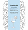 hand drawn design template with lime and cocktail vector image vector image