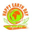 happy earth day design vector image