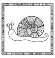Happy Snail Doodle vector image vector image