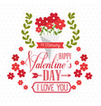 happy valentines day stylish greeting card vector image vector image