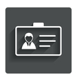 ID card sign icon Identity card badge symbol vector image vector image