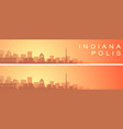 indianapolis beautiful skyline scenery banner vector image vector image