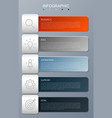 infographic modern with 5 options step vector image vector image