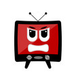 isolated angry tv emote vector image vector image