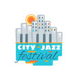 jazz festival music concert logo musical vector image