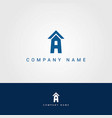 letter a building logo vector image vector image
