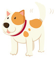 Little dog wagging the tail vector image