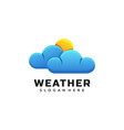 logo weather gradient colorful style vector image