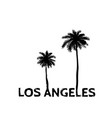 los angeles symbol line drawing with palm tree