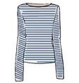 marine or nautical fashion tshirt with sleeves vector image