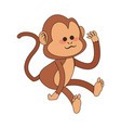 monkey cartoon icon image vector image vector image