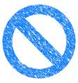 no sign grunge icon vector image