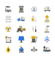 Oil and Industy Flat Color Icons vector image vector image