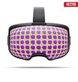Original stereoscopic 3d VR headset vector image