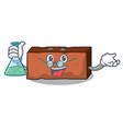professor brick character cartoon style vector image vector image