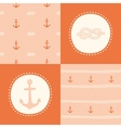 Retro anchor pattern set vector image vector image