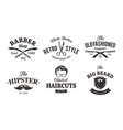 retro barber emblems vector image vector image