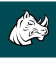 rhino head mascot vector image vector image