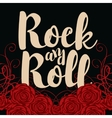 rock and roll and roses vector image