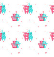 seamless pattern with cute cats in love vector image vector image
