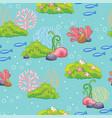 seamless pattern with underwater wildlife vector image