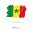 senegal flag brush strokes painted national vector image vector image