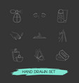 set of beauty icons line style symbols with vector image vector image