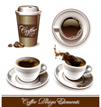 set of coffee cup vector image vector image
