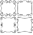 set of decorative frameworks vector image vector image
