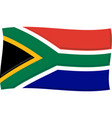 south african flag graphic