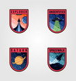 space mission patches logo sets premium badges vector image