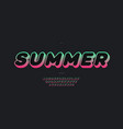 summer font 3d bold gradient color style vector image vector image
